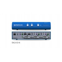 קופסת מיתוג High Sec Labs SK21D-N 2-Port DVI-I Video KVM switch CPN11178