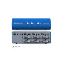 קופסת מיתוג High Sec Labs DK22D-N 2-Port DVI-I Video DH Dual Head KVM switch CPN11418