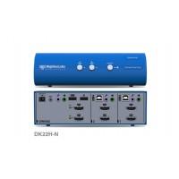 קופסת מיתוג High Sec Labs DK22H-N 2-Port 4K HDMI Video DH Dual Head KVM switch CPN11412
