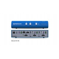 קופסת מיתוג High Sec Labs SC21H-N 2-Port HDMI Video KVM Combiners switch CPN11458