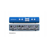 קופסת מיתוג High Sec Labs SX22D-N 2-Port x 2 DVI-I Video KVM Mini-Matrix switch CPN11416