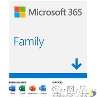 תוכנת אופיס ל- 6 משתמשים לשנה Microsoft 365 Family 6GQ-00085
